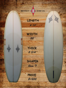 "Bennett – 6'10"" Vee Bottom"