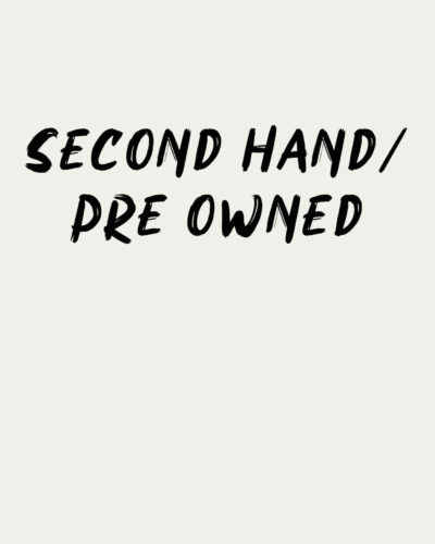 Second Hand/Pre Owned